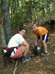 2 people geocaching