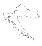 blank Croatia map