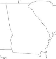 blank Georgia map