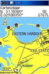 screen capture of free GPS map