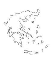 blank Greece map