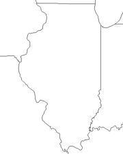 blank Illinois map
