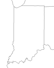 blank Indiana map