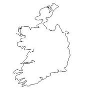 blank Ireland map