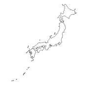 blank Japan map