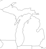 blank Michigan map