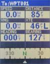 Magellan Meridian Color GPS receiver data screen