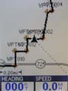 Magellan Meridian Color GPS receiver map page