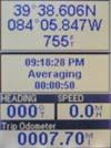 Magellan Meridian Color GPS receiver position screen 1