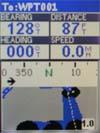 Magellan Meridian Color GPS receiver road screen