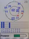 Magellan Meridian Color GPS receiver satellite status screen
