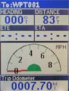 Magellan Meridian Color GPS receiver speedometer screen