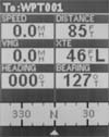 Magellan Meridian Platinum GPS receiver data screen