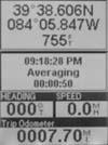 Magellan Meridian Platinum GPS receiver position screen 1