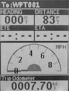 Magellan Meridian Platinum GPS receiver speedometer screen