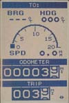 Magellan SporTrak GPS receiver speed screen