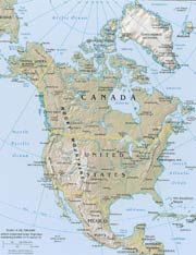 labeled map of north america