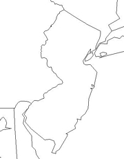 blank New Jersey map