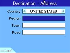 Navman iCN630 Address page