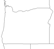 blank Oregon map