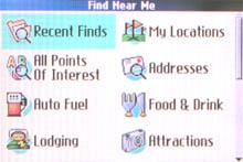 Garmin Quest map page