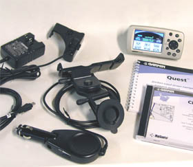 Garmin Quest GPS receiver package