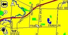 Garmin Street Pilot 2610 GPS receiver Map Page