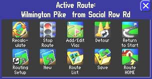 Garmin Street Pilot 2610 GPS receiver Route Page
