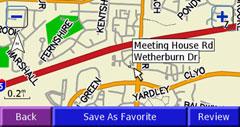 Garmin StreetPilot 2730 map page