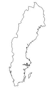 blank Sweden map