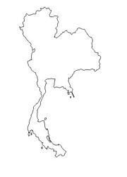 blank Thailand map