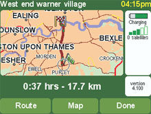 TomTom Go map page