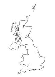 blank England map