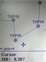 Magellan eXplorist 100 GPS map screen