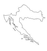blank Croatia map