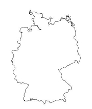 blank Germany map