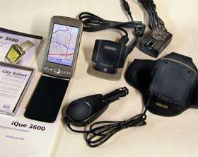 Garmin iQue 3600 receiver package