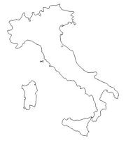 blank Italy map