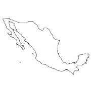 blank Mexico map