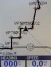 Magellan Meridian Color GPS receiver map page