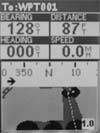 Magellan Meridian Platinum GPS receiver road screen