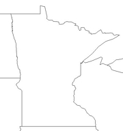 blank Minnesota map