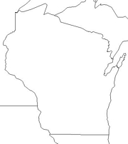 blank Wisconsin map
